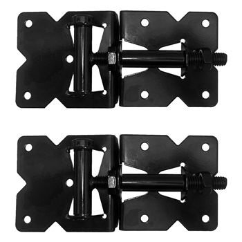 ECONOMY Vinyl Gate Hinges BLACK - For Vinyl, PVC or Plastic Fencing - Standard and Self Closing
