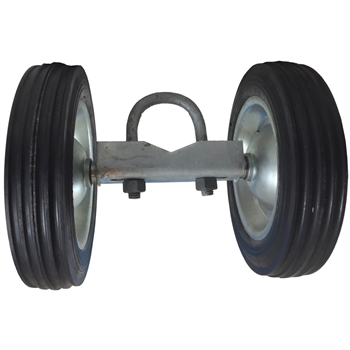 "Chain Link Fence Rolling Gate Wheel Carrier -Rubber 8"" - Chain Link Fence Parts - Chain Link Gate Parts"