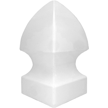 Vinyl Fence Post Cap 4x4 - Gothic Style Post Cap - PVC Fence Post Cap - Vinyl New England Post Caps - Vinyl Post Finials
