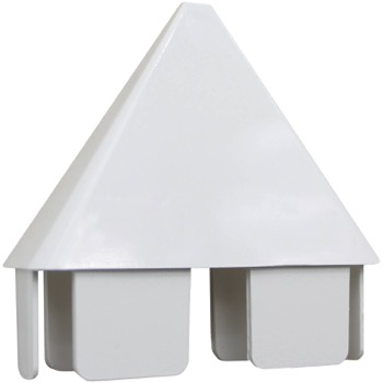 Vinyl Picket Fence Cap - Pointed (White)