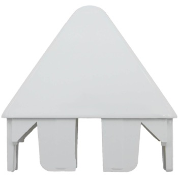 Vinyl Picket Fence Cap - Round Pointed (White)