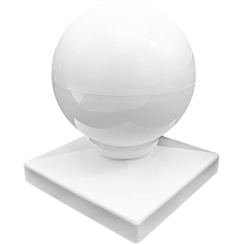 Vinyl Fence Post Cap 4x4 - Pyramid Style Post Cap - PVC Fence Post Cap - Vinyl Ball/Dome Post Caps