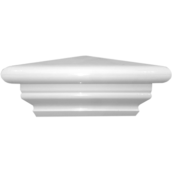 Federation Style Post Cap - PVC Fence Post Cap - Vinyl Pyramid Post Caps -