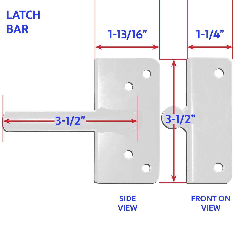 WHITE Standard Vinyl Gate Latch