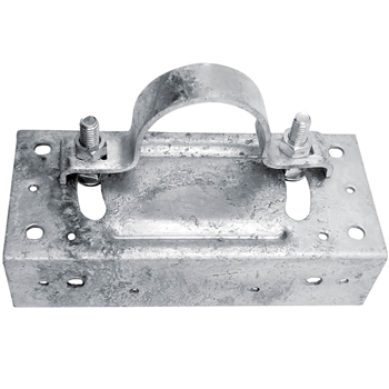 Wood Fence to Round Steel Post Panel Attachment Adapter Bracket
