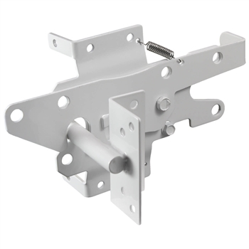 Vinyl Fence Gate Latch - Vinyl Gate Latch - Lockable from BOTH Sides of Gate - WHITE
