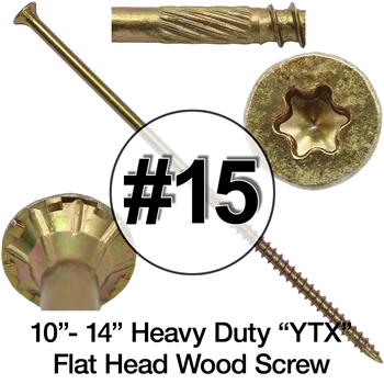 Yellow Zinc Wood Screw YTX Wood Screws Start/Torx Drive Screws