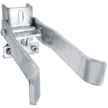 Commercial Strong Arm SINGLE GATE Latch  - chain link fence parts - chain link gate parts