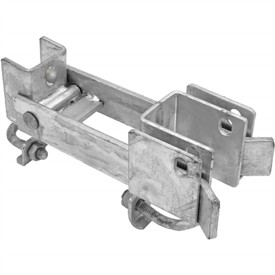Commercial Strong Arm Double Gate Latch - chain link fence parts - chain link gate parts