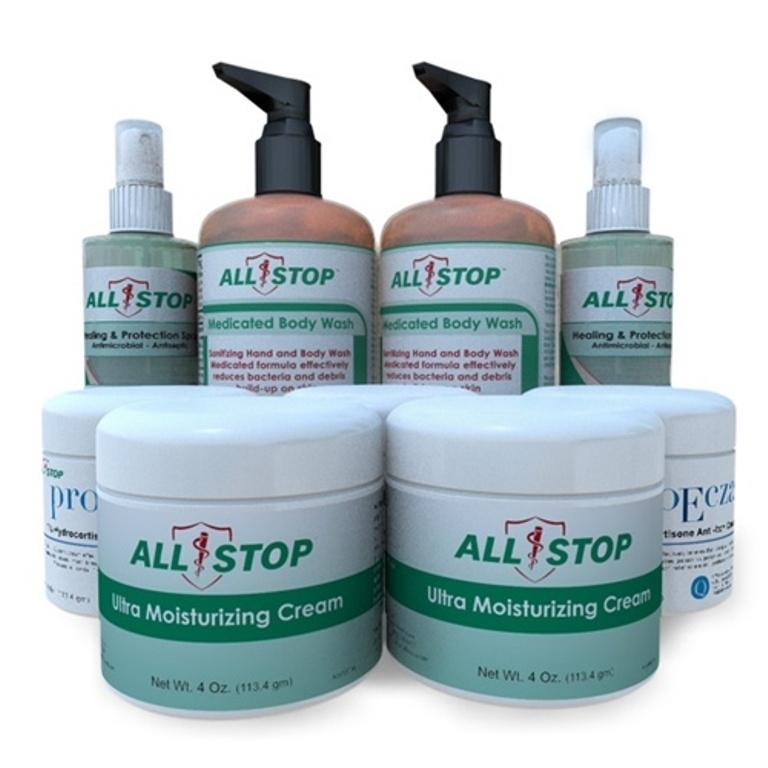AllStop-Eczema, Dermatitis & Dry Skin Treatment-Supersized Family Pack