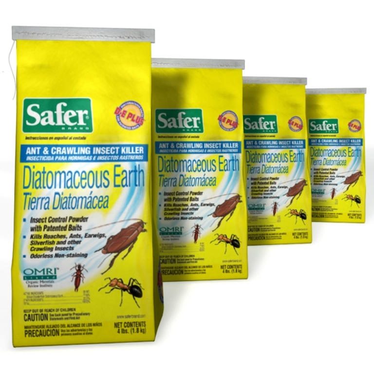 Safer Bed Bug Ant Crawling Insect Killer 4 Lb 4pk Diatomaceous Earth Pest Control Treatment For Bed Bugs And Crawling Insects Shop Qbased Com