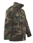 Tru-Spec M-65 FIELD COAT WITH LINER Military Jacket with Pockets Woodland Camo pattern Black Coyote and OD Green