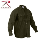 Rothco Heavy Weight Solid Flannel Shirt Black and Olive Drab