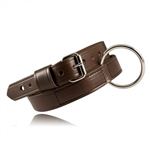 Boston Leather, RESTRAINT BELT, BROWN 1 1/2