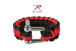 Rothco Thin Red Line Paracord Bracelet Wtih D-Shackle