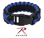 Rothco Deluxe Thin Blue Line Paracord Bracelet