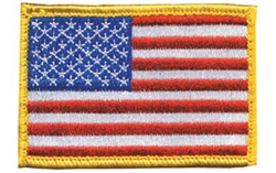 BH PATCH AMERICAN FLAG W/H&L R/W/B