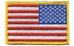 BH PATCH AMERICAM FLAG RVRSD R/W/B