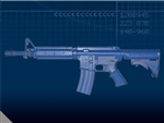 FSM4CFTRCS M4 COMMANDO Flat Top Closed Stock, Fwd Rail
