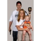 White Male With Badge, Female And Child (NON THREAT) Order in quantities of 25