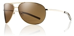 Smith Optics Serpico Gold Frame Polarized Brown