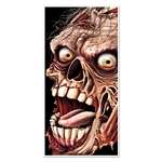 This Zombie Door Cover is the perfect Halloween house party or a haunted house decoration.