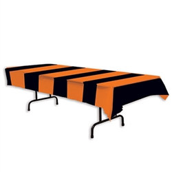 Orange & Black Stripes Tablecover