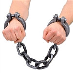 Look out; you're in the jailhouse now! Use these Plastic Shackles as decorations and costume props.One (1) set of Plastic Shackles comes per package, made from plastic material with one size fitting most adults