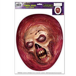 Give your party guest a real scare by placing the Zombie Head Toilet Topper Peel 'N Place where they will least expect to see it. Fun decoration that can be used as a Zombie or Halloween decoration.