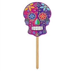 Day of the Dead is a time of remembering and celebrating you ancestors. Use this colorful Day of the Dead Yard Sign to decorate your yard and planters.