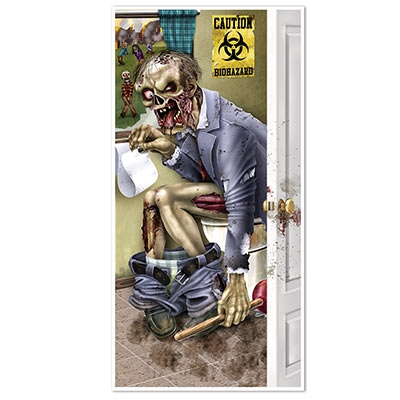 Zombie Restroom Door Cover Partycheap