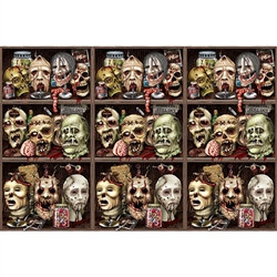 Scary Heads Backdrop - this high-quality artwork is sure to pump-up your guests Adrenalin.