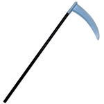 Plastic black and silver scythe makes for the perfect costume accessory if you're dressing up as the grim reaper for Halloween. Measures 40 inches tall and requires minimal assembly. Contains one scythe per package.