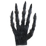 Slide your hand into the black Hairy Glove and transform yourself into a werewolf or other creature. Measuring 18.5 inches in length, and covered in synthetic black hair, each finger contains a hidden wire for posing. One size fits most. No returns.