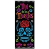 The Day Of The Dead Door Cover is made of all weather plastic and measures 30 inches wide and 6 feet tall. Features a skull and flowers in the traditional vibrant colors. Contains one (1) per package.
