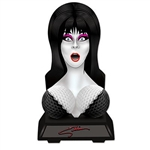 The Elvira Bust Centerpiece is made of cardstock with tissue bust. Printed on two sides. Measures 8 3/4 inches wide and 16 inches tall. Contains one (1) per package. Simple assembly required.