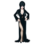 "This completely assembled, fully jointed and ready to hang Jointed Elvira is sure to look great at your next party! Standing 35.75"" tall and printed one side on high quality cardstock."