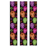 Day of the Dead Party Panels - Create a colorful atmosphere for your Day of the Dead celebration with these vibrant 6ft long Day of the Dead party panels. Made of lightweight plastic, they include a clear loop to make hanging easy.  Reusable with care.