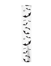 Bats in the belfry?  No problem when they're these 6 foot long Bat Party Panels!  Each package contains three 6 foot long x 1 foot wide clear plastic panels printed with black bat silhouettes.  Hang indoors or out for a fun, spooky look.