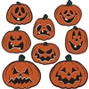 The Vintage Halloween Pumpkin Cutouts are made of cardstock and printed on two sides. Each one has a different facial expression from intimidating to happy to silly. Sizes range in measurement from 6 1/2 inches to 9 1/2 inches. Contains 8 per package.