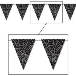Spider Web Pennant Banner, 12 ft