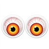 The Giant Googly Eyes feature a colored board stock iris and pupil free floating withing a clear plastic outer covering. Measuring 6 inches in diameter, with a self adhesive backing, great for DIY Halloween costumes! 1 pair of eyes per package.