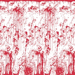 Bloody Wall Backdrop - This high-quality backdrop will set the perfect mood for a house of horrors scene.