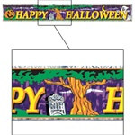 Metallic Happy Halloween Banner