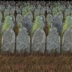 Graveyard Backdrop - This colorful, high quality graveyard background is one part of the complete graveyard Halloween scene.