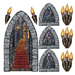 Create the look of a medieval castle with these Castle Stairway, Window and Torch Props! The artwork is so good that you will have to touch it to make sure it isn't real stone! Comes with nine decorations to transform your living room into a castle.