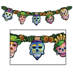 Day of the Dead Streamer - The Day of the Dead Streamer is the perfect hanging decoration for any Day of the Dead festivity.