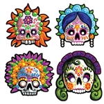 These festive Day of the Dead Masks (4/pkg)and colorful Day of the Dead Masks are a great way to show off and learn about a unique Mexican celebration.