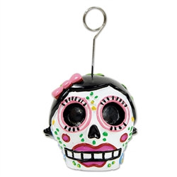 Female Day of the Dead Photo/Balloon Holder