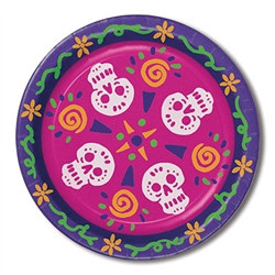 Day Of The Dead Plates - These Day Of The Dead Plates are perfect for your festivities. Celebrate the dead with these colorful decorated tableware.